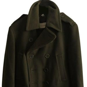 Burberry Olive Green Wool/Cashmere Double Breasted